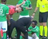 Le comportement de Costil fait polémique face à Saint-Etienne. (capture Canal+)