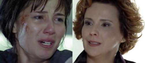 Manuela e Eva em 'A Vida da Gente'. (Fotomontagem/Reprodução/Rede Globo)