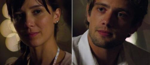 Manuela e Rodrigo em 'A Vida da Gente'. (Fotomontagem)