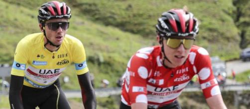 Tadej Pogačar e Brandon McNulty al Giro dei Paesi Baschi.