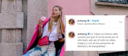 Anita Matamoros acaba su relación con David Salvador (Instagram @anitamg)