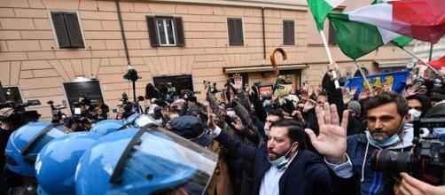 Un'immagine della nuova manifestazione di IoApro a Roma.