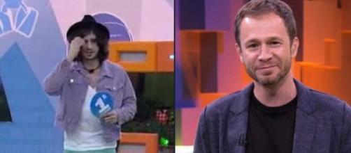 Tiago Leifert faz cobrança a Fiuk (Fotomontagem/Reprodução/TV Globo)