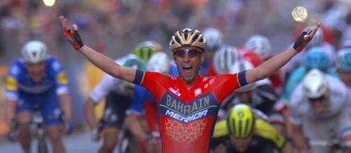 Vincenzo Nibali, la vittoria alla Milano - Sanremo del 2018.