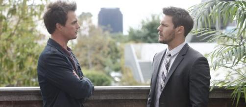Beautiful, spoiler al 24 aprile: Wyatt chiede a Liam spiegazioni sul bacio dato a Steffy.