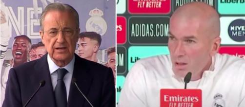 Florentino Perez en conflit avec Zidane - Photo captures d'écran vidéo YouTube
