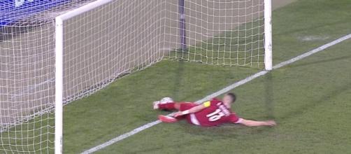 Fotograma del gol anulado a Cristiano Ronaldo (Captura del partido )