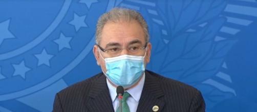 Ministro Marcelo Queiroga reafirmou necessidade de aceleração da vacinação (Reprodução/Facebook/Ministério da Saúde)