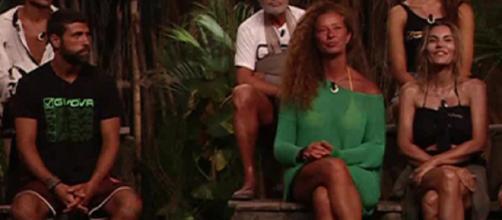 Alta tensione a L'Isola dei Famosi tra Gilles Rocca, Valentina Persia e Fariba.