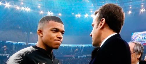 Emmanuel Macron et Mbappé - Photo capture d'écran vidéo