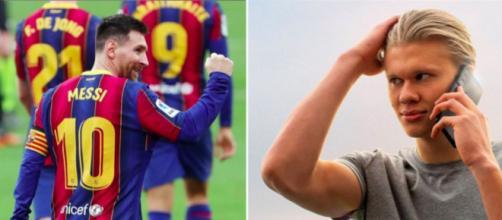 Haaland et Messi bientôt réunis sous le maillot du FC Barcelone ? - Photo captures d'écran Instagram