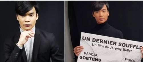 """Le mannequin Jérémy Bellet à l'affiche de son premier court-métrage """"Un dernier souffle"""" - Source : montage Instagram"""