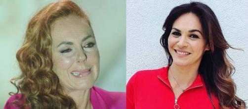 Fabiola Martínez cuestiona el rol de madre de Rocío Carrasco. (Fotos Telecinco e Instagram @fabiolamartinezb_)
