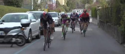 Gianni Moscon all'attacco al Tour of the Alps.