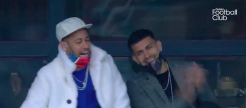La joie de Neymar après la victoire du PSG - Photo capture d'écran vidéo Canal+