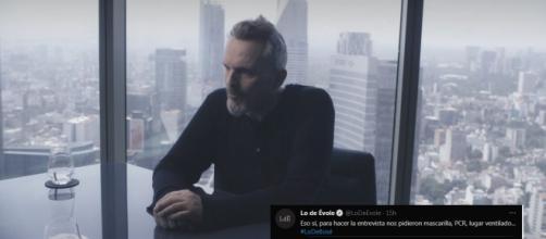 Miguel Bosé durante la entrevista con Jordi Évole (@LoDeEvole Twitter)