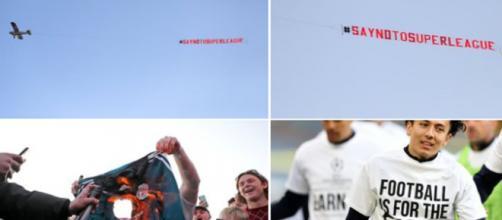 Super League : Avant Leeds-Liverpool, les fans et les joueurs locaux protestent (Credit : capture Twitter Sky Italia)