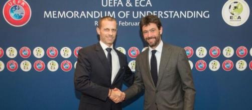 Super League : Caferin se paye 'l'hypocrite' Agnelli et menace les joueurs des clubs. Source twitter UEFA