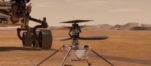 Ingenuity flies on Mars, rings in a new era of aviation (Image source: PBS NewsHour/YouTube)