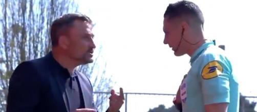 L'arbitre du match entre Brest et Lens n'a pas fait le bonheur de Franck Haise. (crédit Twitter Canal+)