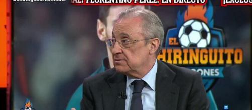 'On veut sauver le football', les explications de Florentino Pérez sur la Super League. Source: Twitter El Chiringuito