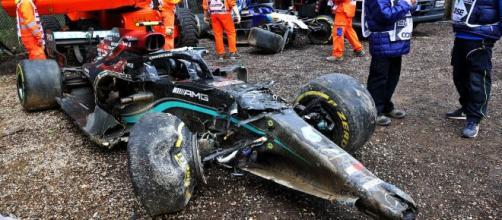 Image des deux voitures après le crash - Source : Capture d'écran