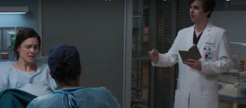 'The Good Doctor' does research on real-life labor in his effort to support Lea in 'Gender Reveal' (Image source: ABC/YouTube)