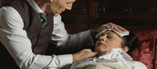 Una vita, anticipazioni 26 aprile - 1° maggio: Emilio sorprende Margarita mentre avvelena Bellita.