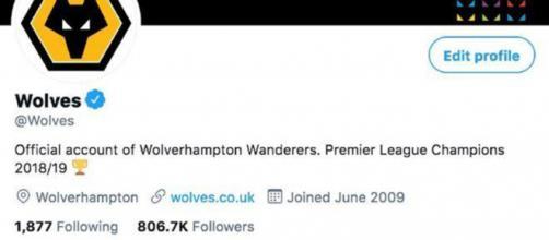 Wolverhampton a mis à jour sa bio Twitter et met un petit tacle au Big 6 de Premier League (Credit : Twitter officiel Wolverhampton)