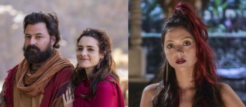 Após a morte de Ayla, Ló e a filha terão relações íntimas em 'Gênesis' (Reprodução/Record TV)