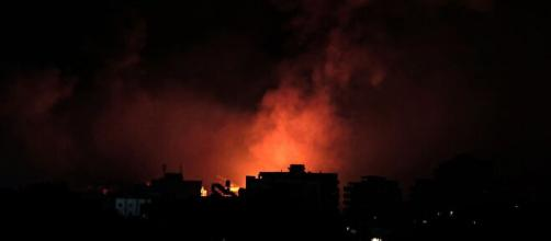 At least 212 Palestinians are now dead after a series of airstrikes launched by Israeli forces to Gaza (Image source: handout image)