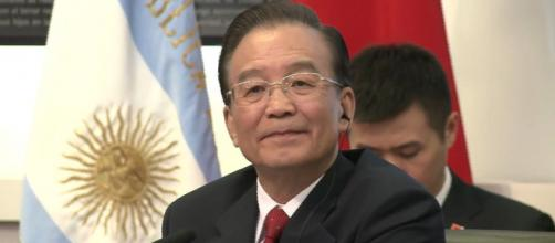Then-Premier Wen Jiabao is shown here during an official visit to Argentina in 2012 (Image source: Casa Rosada - República Argentina/YouTube)