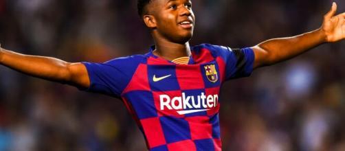 Ansu Fati é uma esperança do Barcelona em era pós-Messi. (Arquivo Blasting News)