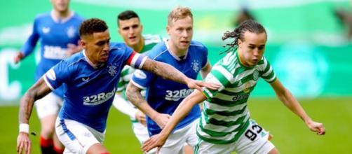 """Le Celtic et les Rangers pourraient bientôt former la """"British Super League"""" (Credit : Twitter The Sun)"""