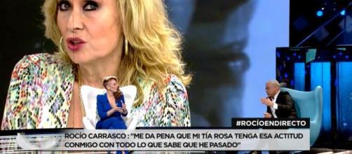 Rocío Carrasco y Jorge Javier Vázquez, este miércoles (Captura de Telecinco)