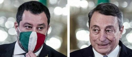 Scontro sul coprifuoco tra Matteo Salvini e Mario Draghi.