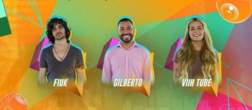 'BBB21': Gilberto, Viih Tube e Fiuk estão no paredão, e enquete UOL aponta rejeição da sister (Reprodução/Gshow)
