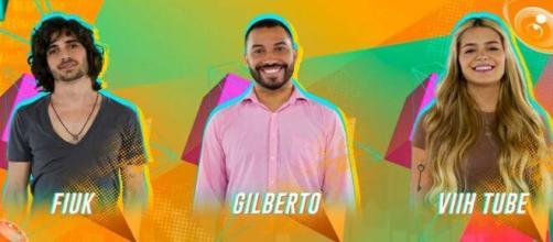 Fiuk, Gilberto e Viih Tube estão no paredão do 'BBB21' (Reprodução/Gshow)