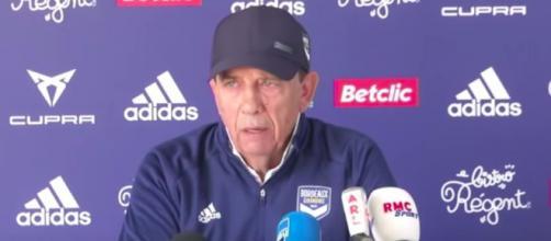 Jean Louis Gasset, coach des Girondins de Bordeaux - Photo capture d'écran vidéo YouTube
