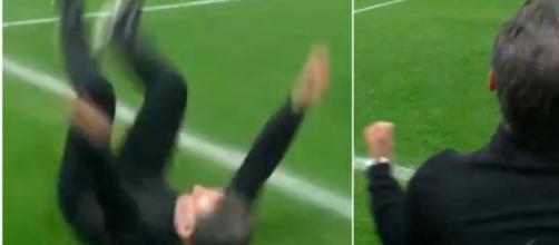La joie de Christophe Galtier après la victoire de Lille - Photo capture d'écran vidéo Canal+