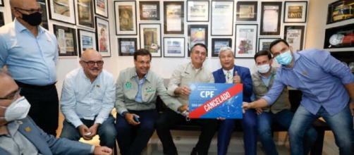 Bolsonaro participou do programa de Sikeira Jr. (Reprodução/Alan Satos/PR)