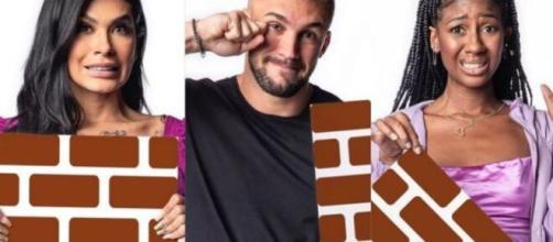 De acordo com enquete UOL, Pocah e Camilla têm disputa acirrada por permanência no 'BBB21'. (Fotomontagem/Reprodução/Gshow)