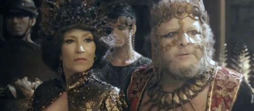 Jaluzi e Bera em 'Gênesis' (Reprodução/Record TV)