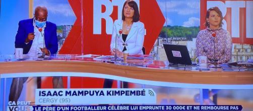 Le père de Presnel Kimpembe a fait le buzz dans l'émission 'Ça peut vous arriver'. (capture M6 émission Julien Courbet)