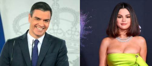 Sánchez le ha informado a Selena Gómez que España se encuentra comprometida con la donación de vacunas (Twitter, @EsquireEs)