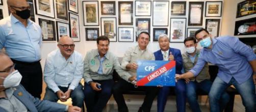 Bolsonaro foi criticado por imagem (Reprodução/Alan Satos/PR)
