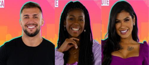 Enquete UOL aponta empate entre Arthur e Camilla de Lucas (Reprodução/Rede Globo)