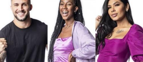 Segundo enquete UOL, Camilla deve ser a eliminada do 'BBB21' (Fotomontagem/Divulgação/Rede Globo)
