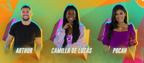 Segundo enquete UOL, Camilla é a favorita para deixar o 'BBB21' (Reproduão/Gshow)