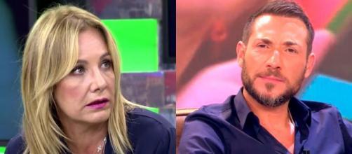 Belen Rodríguez opina que Antonio David está obsesionado con Rocío Carrasco. (Fotos: Telecinco)
